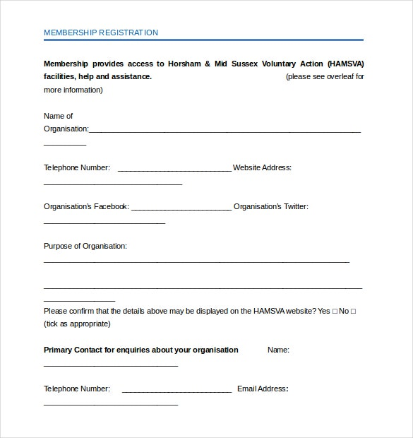 15+ Membership Application Templates – Free Sample, Example, Format ...