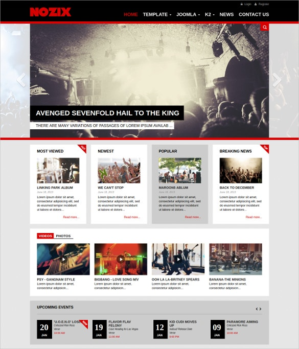 dj music responsive joomla template 30 free demo download