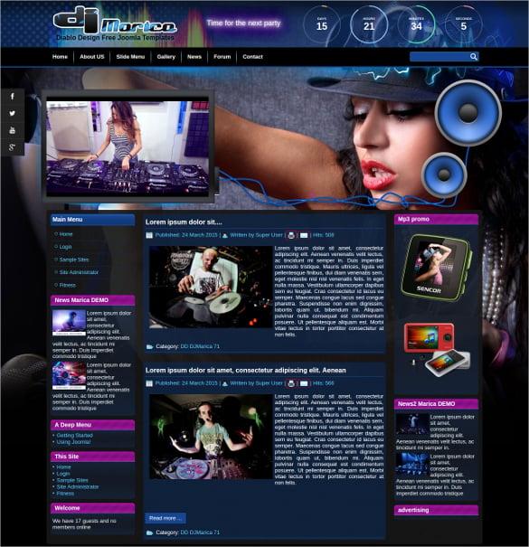dj web template