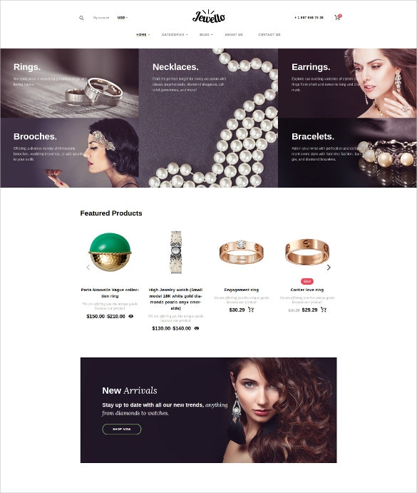 black blog jewello woocommerce theme
