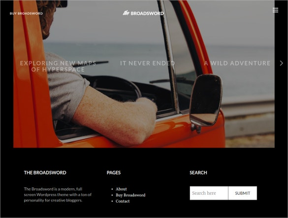 responsive wordpress black blog theme