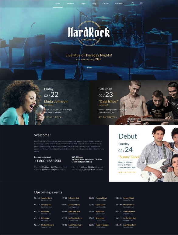 hardrock black blog joomla template