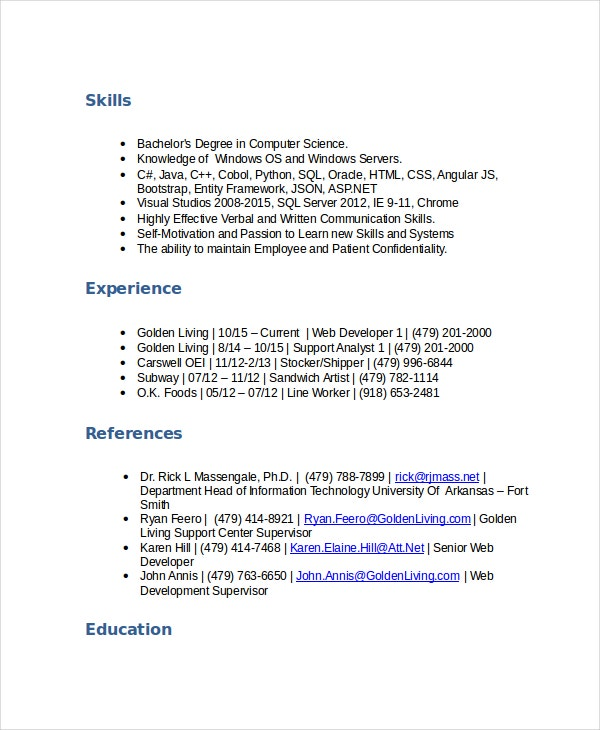 Support Analyst Stocker Resume  Subway Resume