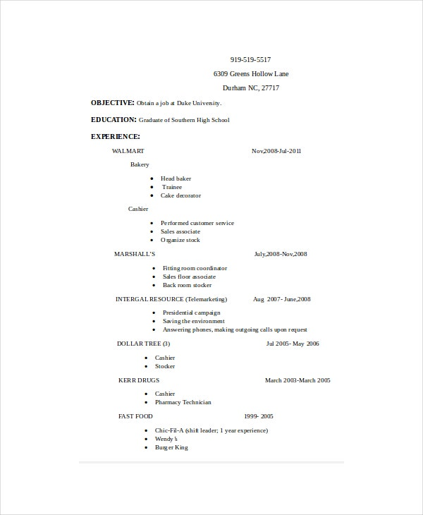 5 Stocker Resume Templates Pdf Doc Free Amp Premium