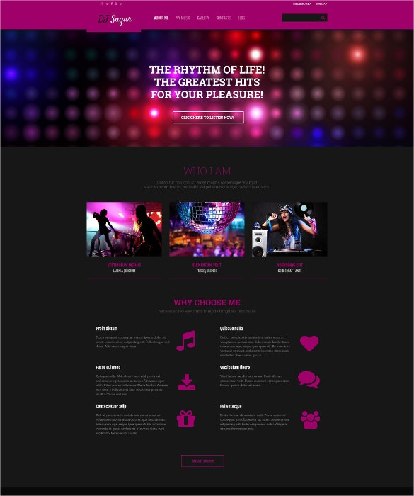 music dj responsive wordpress theme