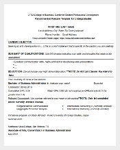 utsa college of business sample resume template