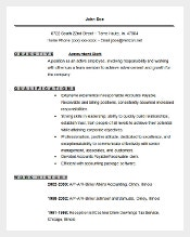 Accountant Clerk Resume Template Word Format
