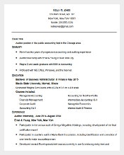 sample accounting auditor resume template word doc
