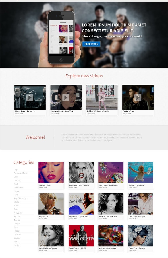 elegant music responsive wordpress theme