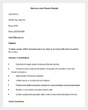 bank accountant resume template word format