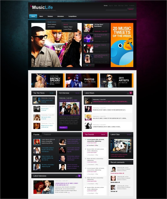 music blog wordpress theme