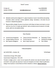 customer service manager resume word editable download