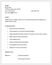 retail customer service resume in ms word editable