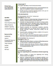 editable midlevel civil engineer resume template word format