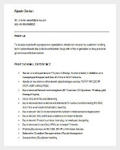 Cisco Network Engineer Resume Template