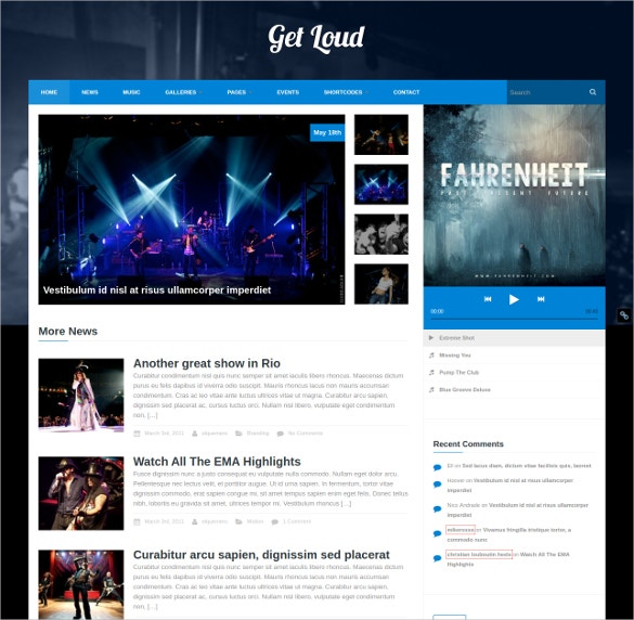 music party wordpress theme