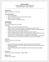 free hospitality line cook resume template editable download