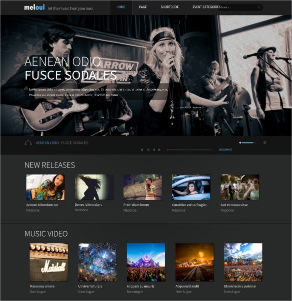 music event wordpress theme
