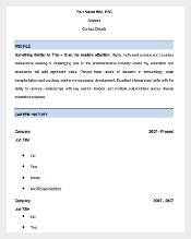 healthcare cv template free word doc download