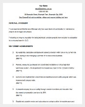 maintenance manager cv template word format download