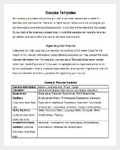 academic science research resume template word format
