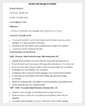 free download wall mart sales manager cv template