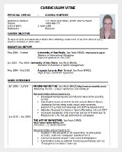 Sport Resume Template Word Doc Free Download