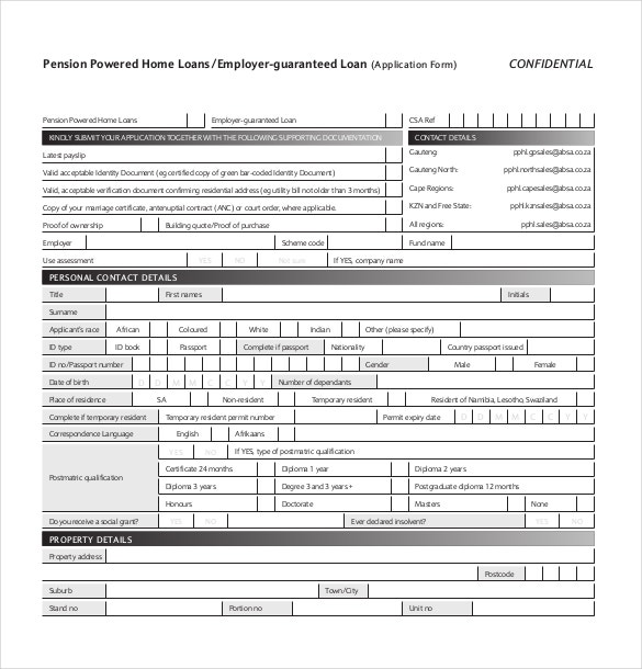 10 loan application templates pdf doc free premium templates sample pension powered home guaranteed loan application form thecheapjerseys Image collections