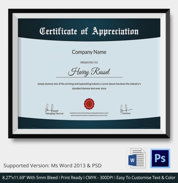 Employee Thank You Certificate