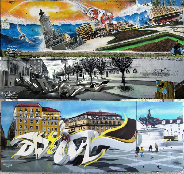 Different Type of 3D Style Graffiti Artworks