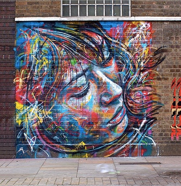 Simple & Cool Brick Wall Graffiti Art