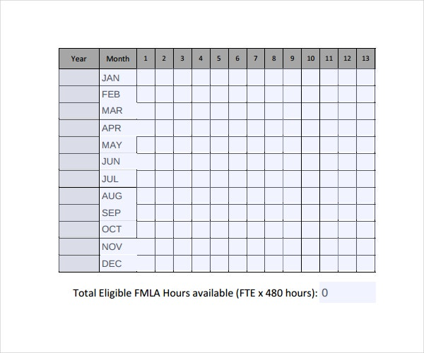 Leaves and Time Tracking Template Download