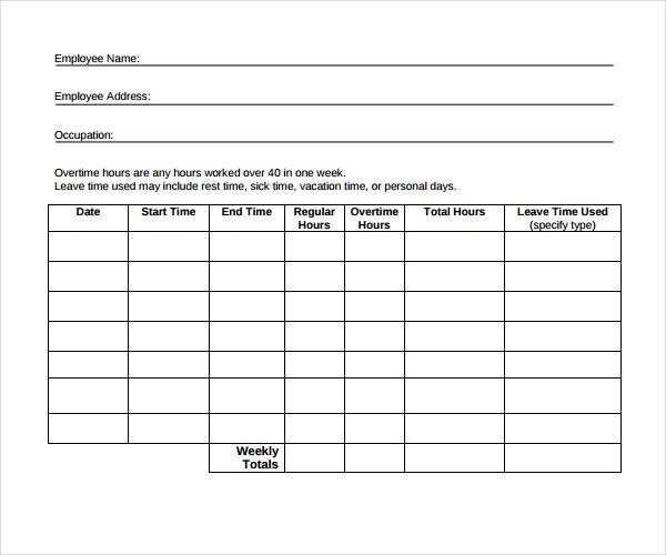 Vacation Sick Time Tracking Template  SaveBtsaCo