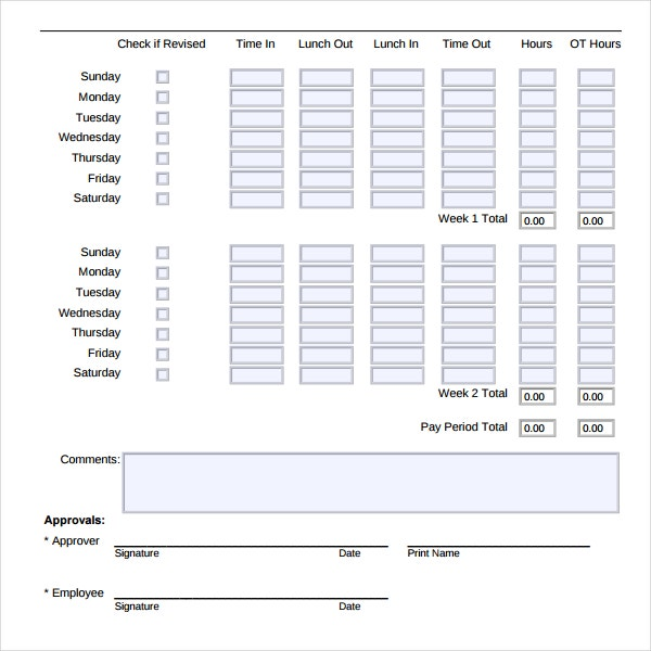 Time Tracking Template Download in PDF