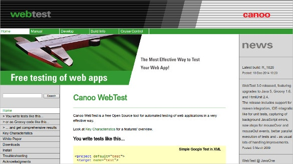 Canoo WebTest Free Open Source Tool