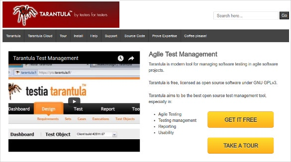 Tarantula Best Open Source Test Management Tool