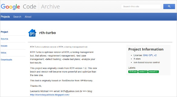 RTH Turbo Testing Management Tool