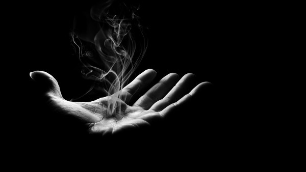 dark smoke hand imaginative wallpaper download