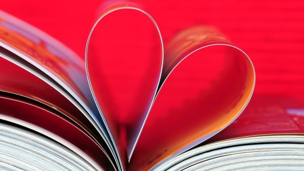 Book Heart Leaf Imagination Wallpaper for Windows
