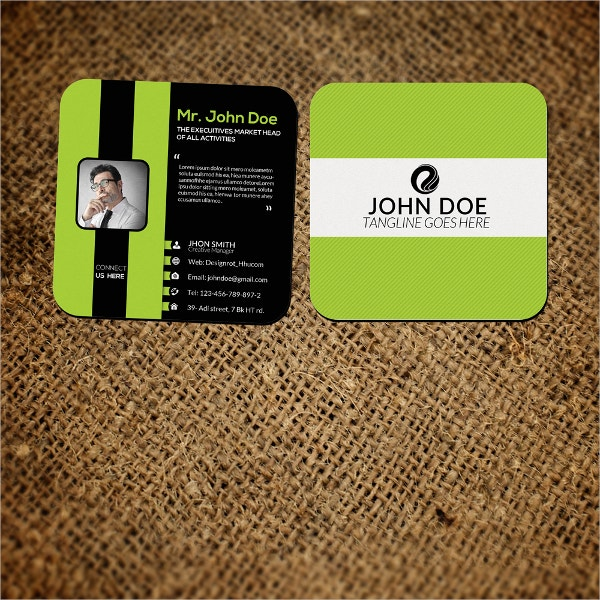 Small Presentation Business Card Template