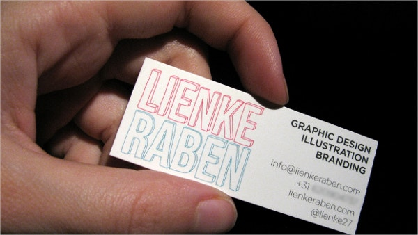 Mini Business Card Template