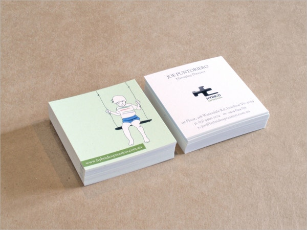 Small Personalised Business Card