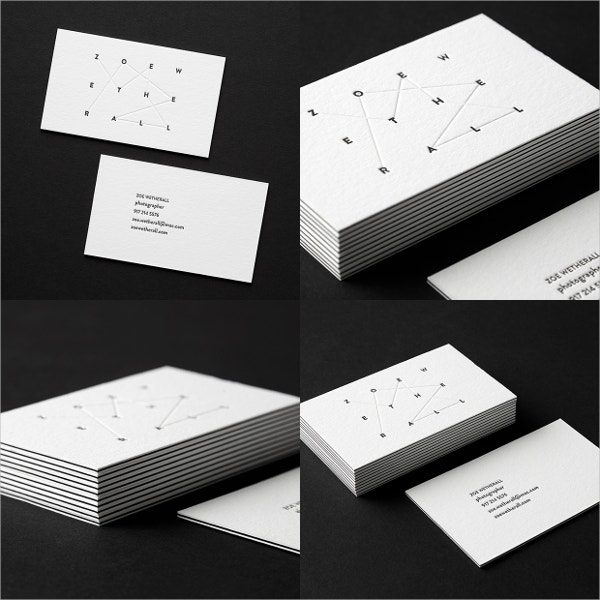 small graphic business card