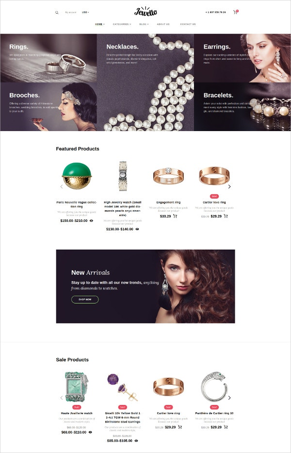 Jewello WooCommerce HTML5 Theme