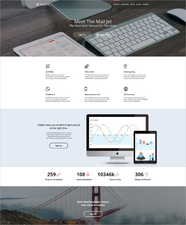 Email Services Moto CMS HTML Template