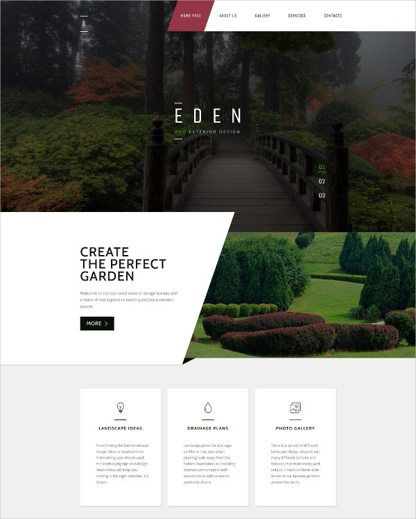 garden design responsive html5 website template
