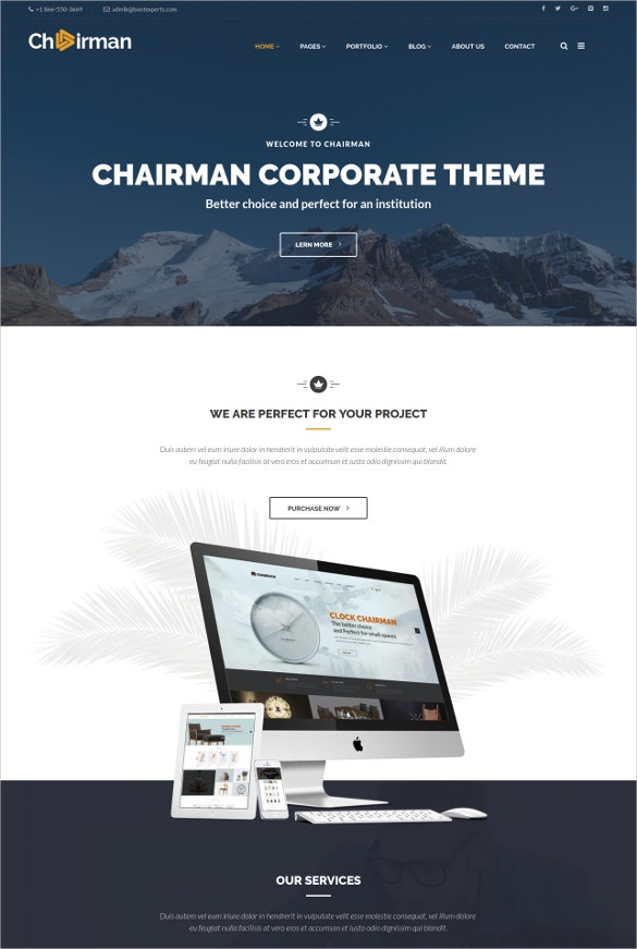 multi purpose chairman html5 template