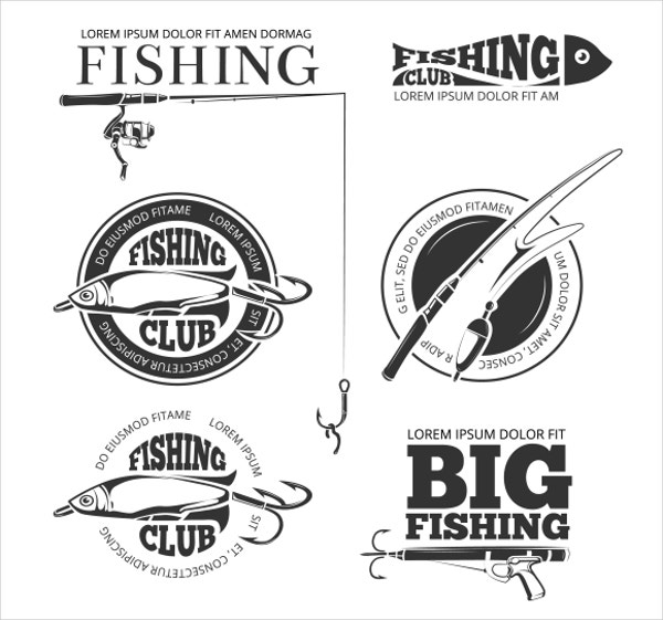 Fishing Vector Logo and Elements