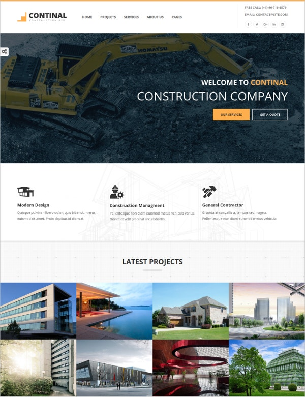construction business html5 template