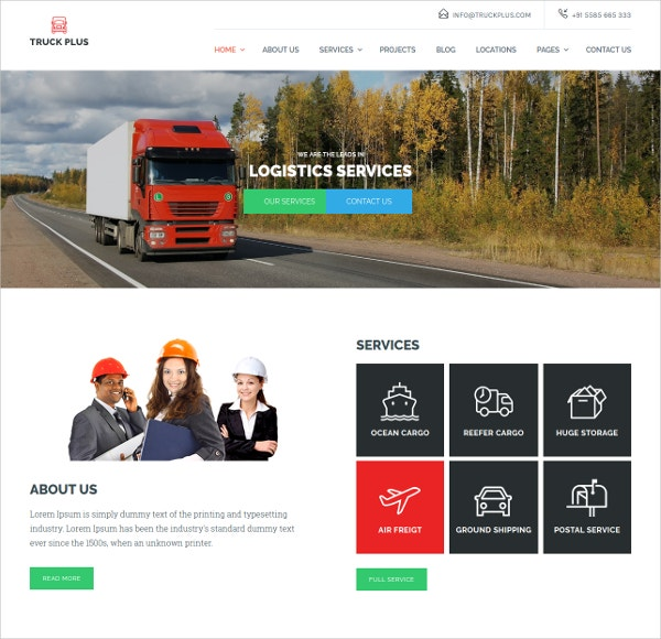 Transportation & Logistics Service WordPress Them
